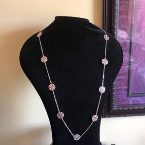 🎁 Beautiful Long Rose Gold Tone Necklace